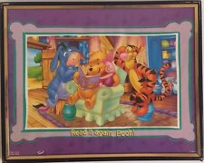 WINNIE THE POOH, EEYORE, TIGGER & PIGLET ~READ IT AGAIN, POOH ~ 8X10 FRAMED PIC