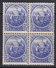 BARBADOS 1921-24 SG222 2½d  ULTRAMARINE BLOCK OF FOUR MNH
