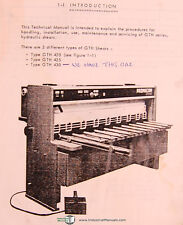 Promecam GTH 420, 425 & 430, Shears, Technical Operating & Parts Manual 1981
