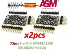 2pcs Pro Mini ATMEGA328P 5V/16MHz Module with Pin Header ENVIO RAPIDO