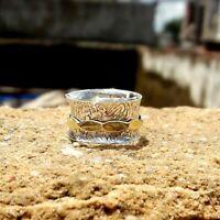 Solid 925 Sterling Silver Spinner Ring Meditation Ring Statement Ring Size sr200