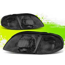 DRIVER+PASSENGER SMOKED HOUSING CLEAR CORNER HEADLIGHTS FOR 99-03 FORD WINDSTAR