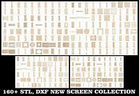 New 160 Pcs STL Model DXF Screens Set CNC Router Carving Laser Cut Artcam aspire