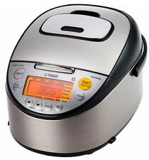 Tiger Rice Cooker 5.5 Cup Uncooked Induction Heating Warmer Stainless Steel Lcd