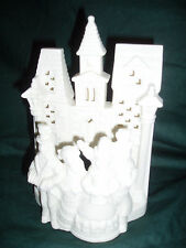 New~Nib~Porcelain Bisque Village Carolers #P0204~Votive Candleholder~Partylite