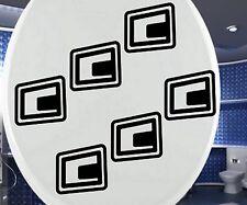 6x Toilettendeckel Aufkleber WC Retro Cubes Sticker Bad Klodeckel Rechteck 3C046