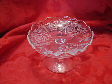 Fostoria Navarre Crystal Clear Etched Baroque Cheese Stand  #2496 Vintage