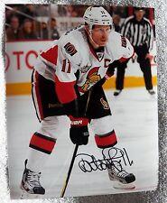 Ottawa Senators Daniel Alfredsson Signed 8x10 Photo Auto