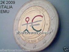 2 euro 2009 Italia fdc smaltato colorato italie italien italy EMU UEM COM TYE 10