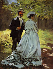 Stunning Oil painting Claude Monet - Art for 'Luncheon on the Grass' landscape