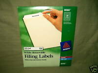 Avery 8066 - White Removable File Folder Labels, New