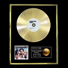 SUGABABES THREE CD GOLD DISC RECORD LP DISPLAY FREE P&P