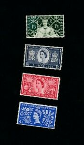 Stamps Great Britain 1953 SC #13-31, SG 532-533, QEll Coronation Set MNH