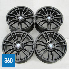"GENUINE BMW 3 4 SERIES 19"" 403 M SPORT SATIN BLACK ALLOY WHEELS SET F30 F31 F32"