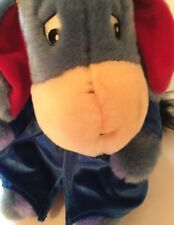 Disney Store Eeyore Graduation Plush Diploma Blue Velvet Cap Gown Large 13""