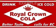 ROYAL CROWN COLA RC OLD SCHOOL VINTAGE SIGN REMAKE BANNER SHOP GARAGE ART 2 X 4