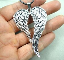 Fashion Retro Tibetan silver Charm cute Angel wings Pendant & necklace T5