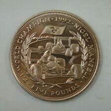 Isle of Man 5 Pounds Coin, 1993, Nigel Mansell F1 1992 World Champion