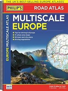Philip's Multiscale Europe: Spiral A3 (Road Atlas Europe) by Philip's Maps Book