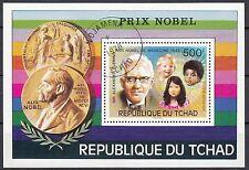 Tschad Block 67 gestempelt 75 Jahre Nobelpreisverleihung