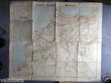 GUERRE DU RIF MAROC : CARTE TARIDE 1925