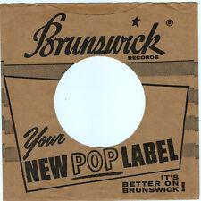 BRUNSWICK RECORDS COMPANY 45RPM RECORD SLEEVE - M- CONDITION