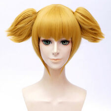 Anime For POP TEAM EPIC Popuko Neat Bangs Golden Cosplay Cute Hair Wig+Ponytails