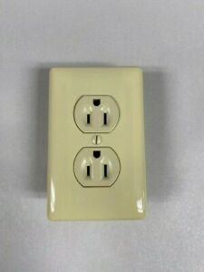 Mobile Home Self Contained Conventional Receptacle Outlet Ivory with cover