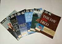 VINTAGE LOOK Magazine Lot of 6 1960s-70s JFK Series and More