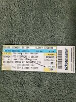 RARE FOO FIGHTERS & WEEZER 2005 WORLD TOUR Concert Ticket Stub