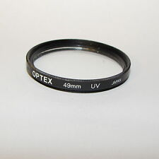 Optex UV 49mm Lens Filter Made in Japan with couple minor scratches