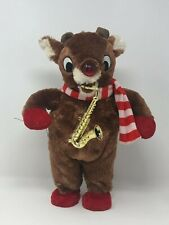 Rudolph The Rednose Reindeer Light-Up/Musical Plush animated Saxaphone
