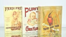 Vintage Cereal Boxes Corn Flakes Shredded Wheat Country Kitchen Repro Decorative