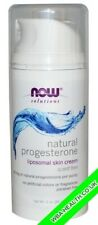 NOW NOW NATURAL PROGESTERONE BALANCING SKIN CREAM UNSCENTED 3 oz (85 g)
