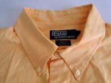 Polo Ralph Lauren Blake Herren Hemd Kurzarm  Orange Unifarben Gr. XL