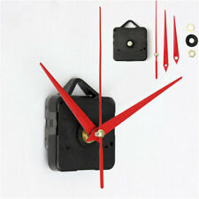 Clock Quartz Movement Mechanism Long Red Spindle Hand Wall Replace Repair Parts
