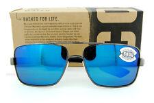 New Costa Del Mar Sunglasses NORTH TURN Gunmetal Blue Mirror 580G Polarized