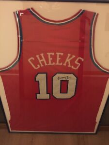 Maurice Cheeks Signed Philadelphia 76ers Retro NBA Jersey Letter Of Authenticity