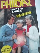 **1980's PHILDAR KNITTING BOOKLET ELEVEN 4 ply PATTERNS