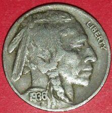 1936 Philadelphia Mint Buffalo Nickel   ID #13-45