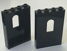 *NEW* 2 Pieces Lego BLACK Panel 1x4x5 with WINDOW
