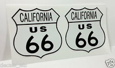 """3"""" CALIFORNIA ROUTE 66 Vintage Style DECALS, Vinyl STICKERS, rat rod, racing"""