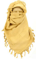 NEW UK BRITISH ARMY ISSUE DESERT TAN SHEMAGH HEAD SCARF,FACE VEIL,COTTON CLOTH