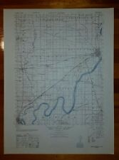 1940's Army (like USGS) topo map Mount Carmel Illinois Montgomery IN -3460 IV