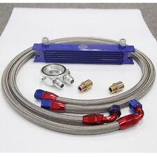 7 Row AN10 Universal Engine Oil Cooler + M20 & 3/4 *16 Filter Plate Adapter Kit
