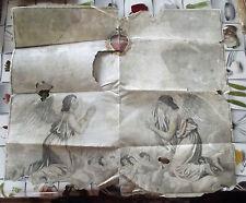 IMAGE PIEUSE,AFFICHE ÉSOTÉRISME 80 x 70 cm LE COEUR DU CHRIST XIX ème
