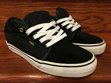 Vans Chukka Low Size 8.5 Black/White Suede/Wool Shoes
