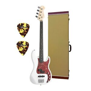 Artist Vintage Hybrid Fretless 4 string Bass + Tweed Hard Case