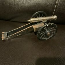Rare Miniature Brass Cannon Gun On Wheels VTG Civil War Toy Replica