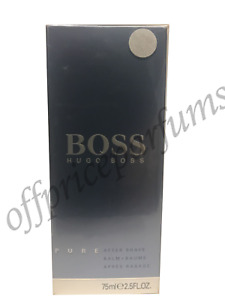 BOSS Hugo Boss PURE After Shave Balm 2.5 fl oz / 75 ml NEW IN FACTORY Sealed BOX